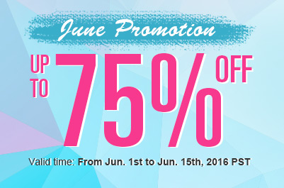 June Promotion -- Save Up to 75%