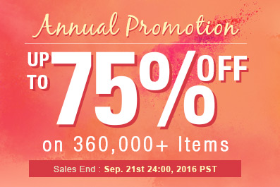 Annual Promotion -- Save Up to 75% on 360,000+ Items