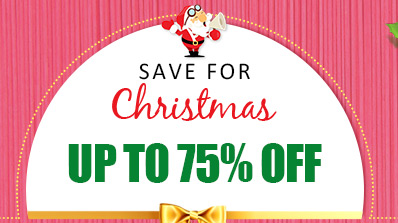 Save for Christmas -- Up to 75% OFF