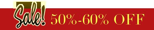 Sale! 50%-60% OFF