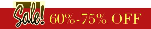 Sale! 60%-75% OFF