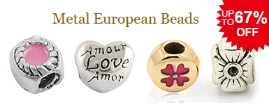 Metal European Beads UP TO 67% OFF