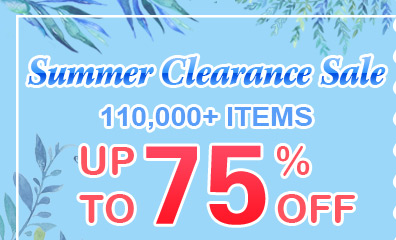 Summer Clearance Sale -- 110,000+ Items Up to 75% OFF