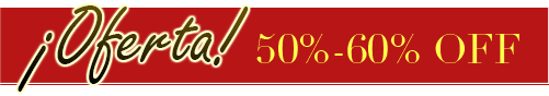 ¡Oferta! 50%-60% OFF