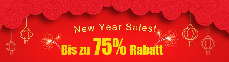 New Year Sales! Bis zu 75% Rabatt