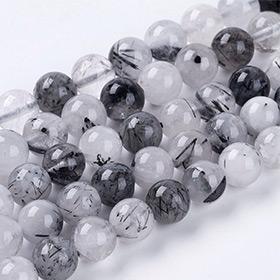 Perles de Pierres Précieuses Noires