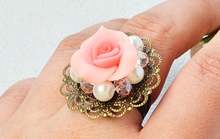 Resin Flower Stitch Ring