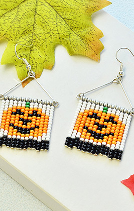 Special Halloween Pumpkin Earrings