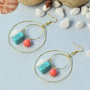 Golden Wire Hoop Earrings