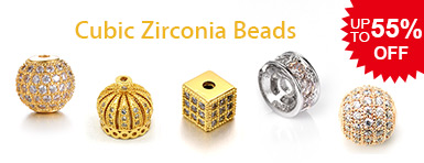 Cubic Zirconia Beads UP TO 55% OFF