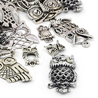 Tibetan Style Pendants, Owl, Mixed Style, Halloween, Antique Silver, 14.5~57x10.5~35.5x2~6mm, Fit for 1.5~4.5mm Rhinestone, Hole: 1.5~3mm