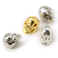 Perline in lega, halloween, teschio, colore misto, 8x5x6mm, Foro: 1 mm