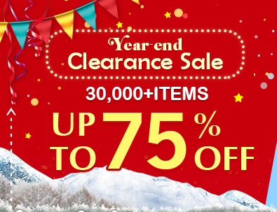 Year-End Clearance Sale -- 30,000+ Items Up to 75% OFF