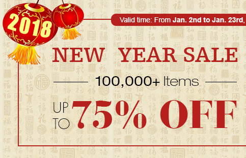 New Year Sale -- 100,000+ Items Up to 75% OFF