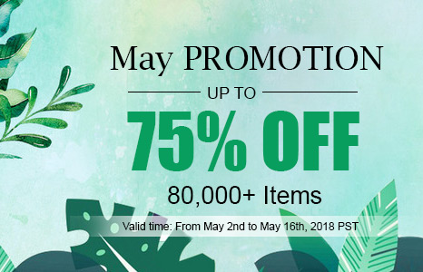 May Promotion -- 80,000+ Items Up to 75% OFF