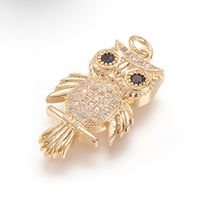 Real Gold Plated Owl