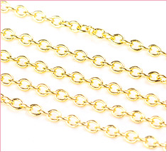 2mm Color-Keeping Brass Cable Chains