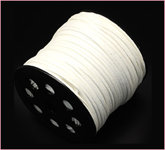 3mm White Environmental Faux Suede Cord