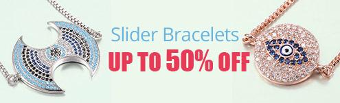 Slider Bracelets UP TO 50% OFF