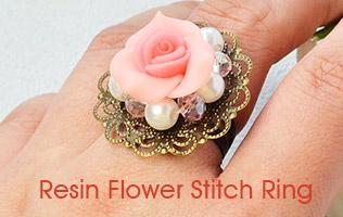 Resin Flower Stitch Ring