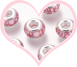Perles Européennes Roses