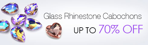 Glass Rhinestone Cabochons UP TO 70% OFF
