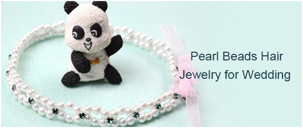 Pearl Beads Hair Jewelry for Wedding