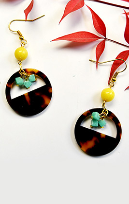 Unique Earrings with Jade Beads