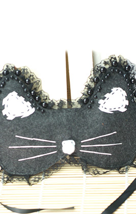 Cute Black Cat Mask for Halloween