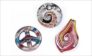 Foil Glass Pendants