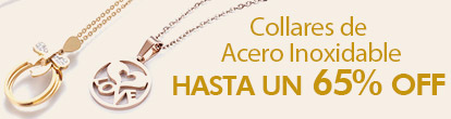 Collares de Acero Inoxidable Hasta un 65% OFF