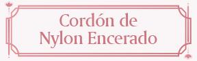 Cordón de Nylon Encerado