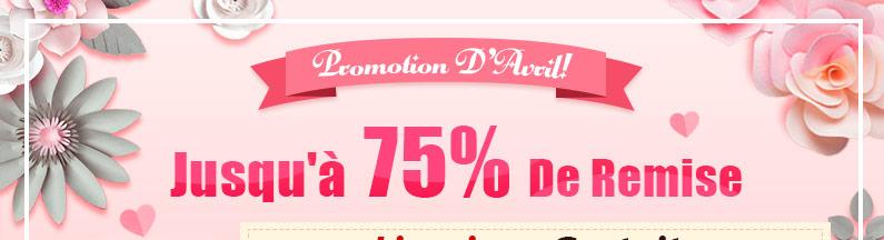 Promotion D'Avril Jusqu'à 75% De Remise