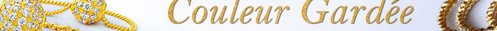 Couleur Gardée & Placage D'Or Réel