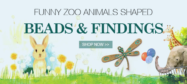 Funny Zoo Animals Shaped Beads & Findings