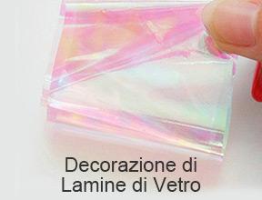 decorazione di lamine di vetro