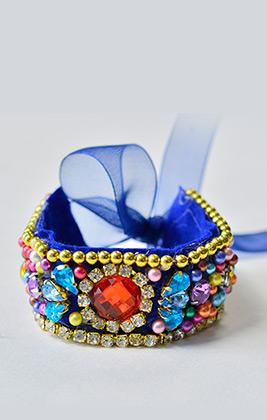 Charm Rhinestone Cuff Bracelets