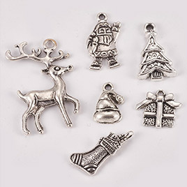 Tibetan Style Alloy Pendants, Christmas Theme